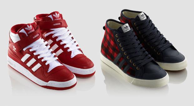 39ef9856e0 adidas originals magas szárú cipők srácoknak: Forum mid és Nizza hi