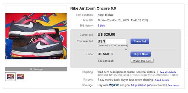 Egy eBay aukció: Itt licitálhatsz, de azonnal meg is veheted magasabb áron.