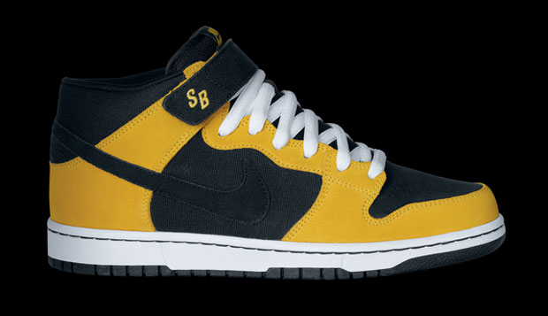Nike SB Dunk Mid (black/black/varsity maize) - ezt itthon is megveheted