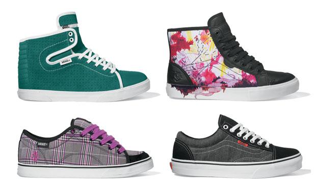 Válogatás a Vans 2010 tavaszi csaj cipőkből