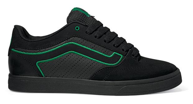 Vans Whip 3 BMX-es cipő fekete-zöld színben
