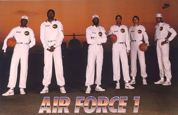 Nike Air Force One Original Six poszter 1982-ből