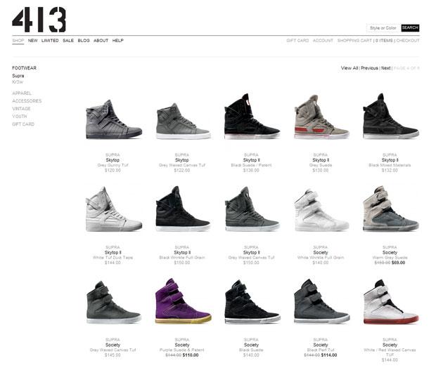 Factory 413 Supra és Kr3w webshop