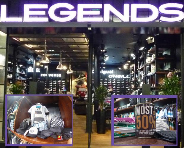 Legends storecheck a Westendben