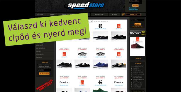 Speedstore nyereményjáték: válaszd ki a kedvenc cipődet és nyerd meg!