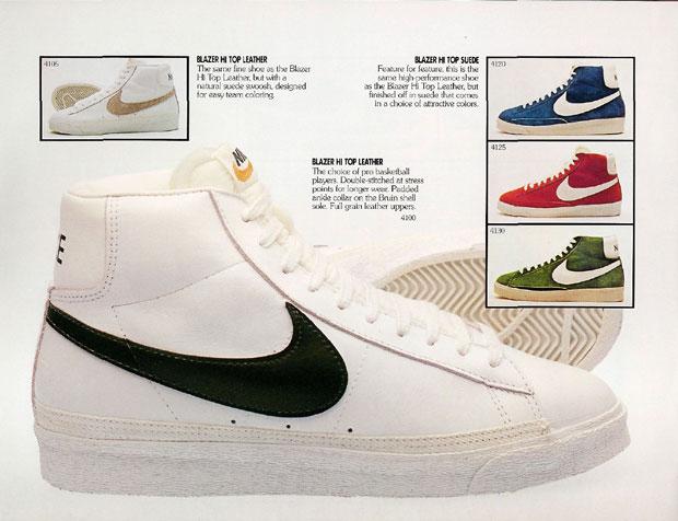 Nike Blazer - korabeli katalógusoldal