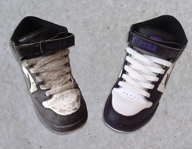 A nagy cipőtisztítás: előtte és utána