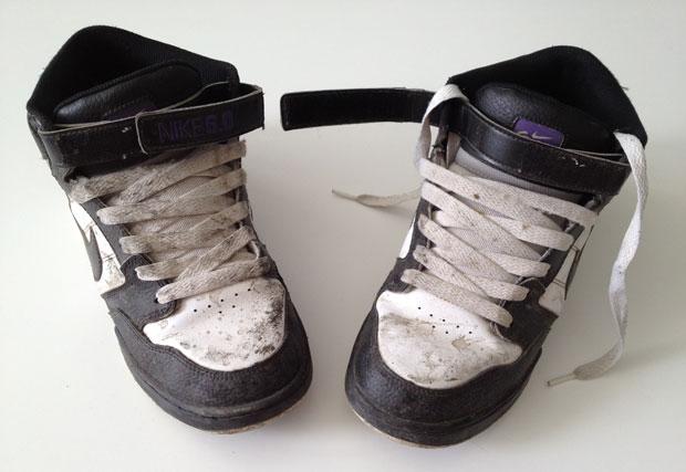 A mindjárt megtisztuló Nike Mogan Mid 1-es cipőm :)