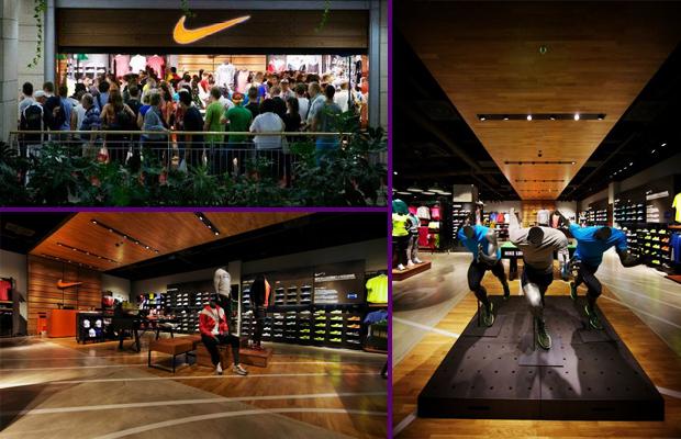 Szép lett azüzlet kialakítása és nagy területet kapott a Nike
