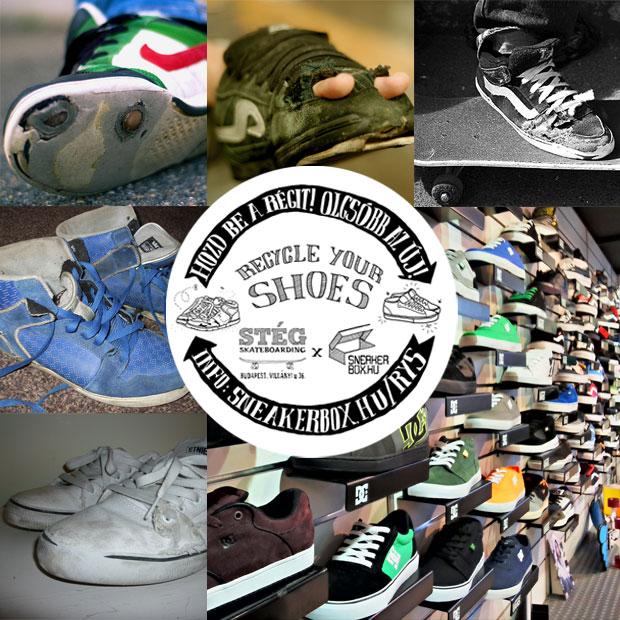 Recycle Your Shoes - Hozd be a STÉGbe régi cipőd, az újat 3000/6000 Ft kedvezménnyel kapod!
