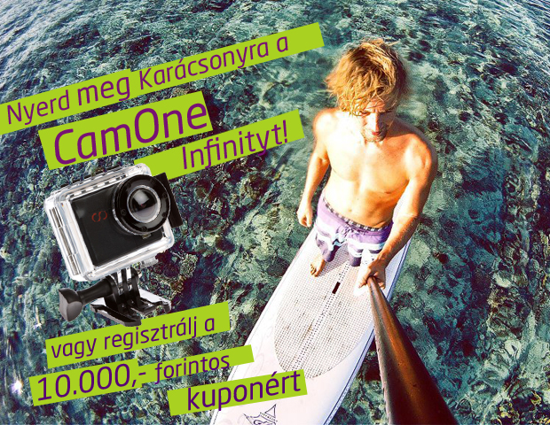 CamOne Infinity extrém kamera nyeremény játék