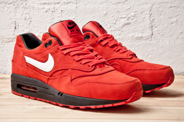 Tűzpiros Nike Air Max 1 PRM (Red/Black)
