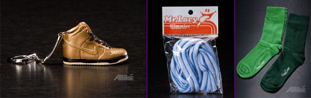 Mini cipő kulcstartó, cipőfűző, nemtucat zokni - van minden :)