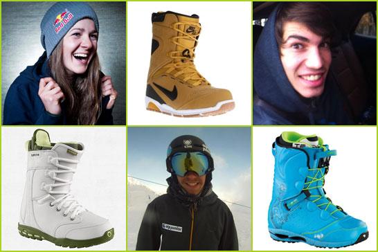 Panka, Szigi és Beni snowboard cipője