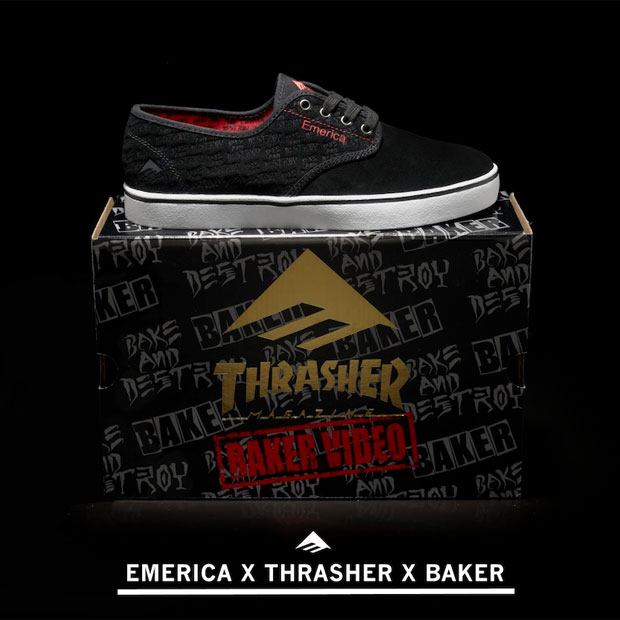 Thrasher x Baker - Emerica Laced modell a 'Bake and Destroy' vidihez