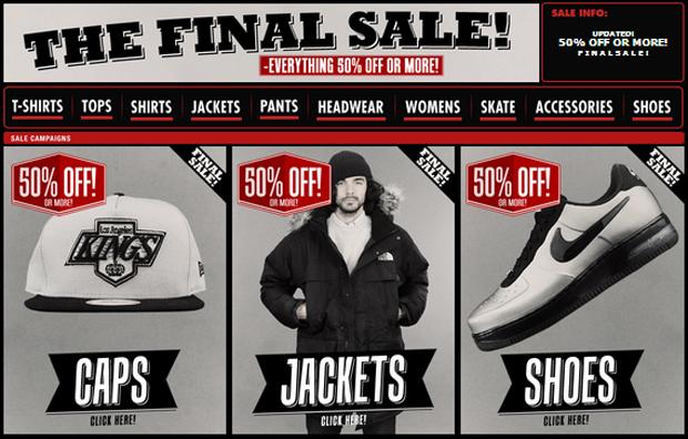 Caliroots leárazás Nike Vans Adidas Carhart sale