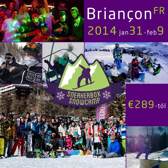 Sneakerbox Snowcamp: Briançon 2014. január 31- február 9.