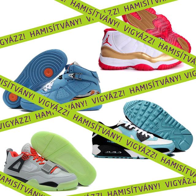 Hogyan lehet megkülönböztetni az eredeti és a hamis cipőket?