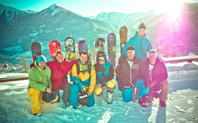 First Chair (cabin) Crew @ Sneakerbox Snowtábor (Fotó: Piroska András)