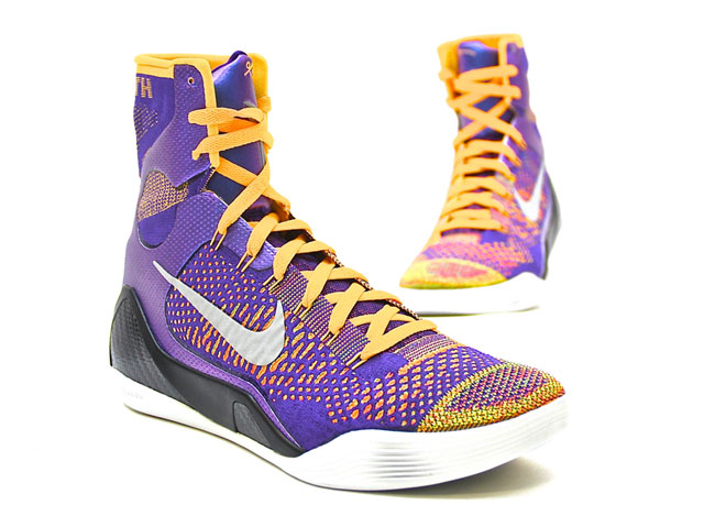 Nike Kobe 9 Elite Team (Court Purple/White/Laser Orange/Wolf-Grey 630847-500)