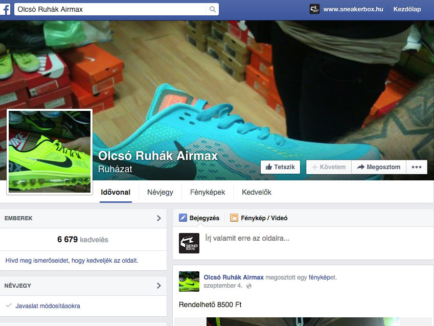 Ismerd fel a kamu Facebookos cipőrendelős oldalakat!