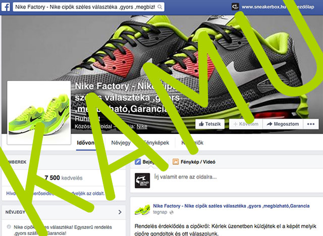 Kamu Facebook rendelős oldalak . Te ne dőlj be!