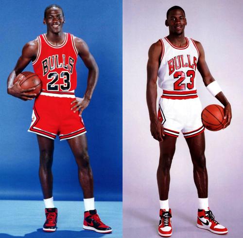 MJ piros és fehér mezben