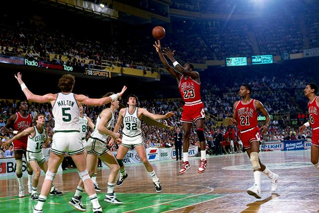MJ a Boston Celtics elleni meccsen