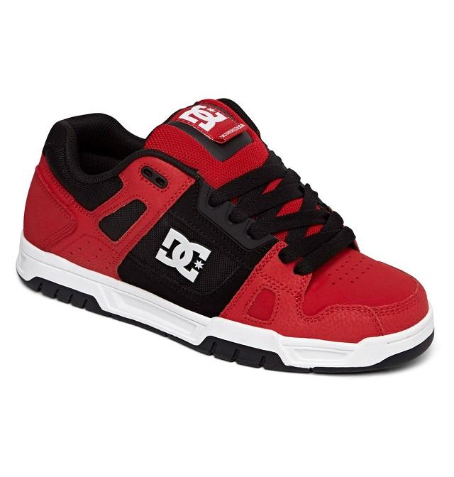 CIPŐK DC Stag férfi deszkás cipő Fekete Fehér Piros DC