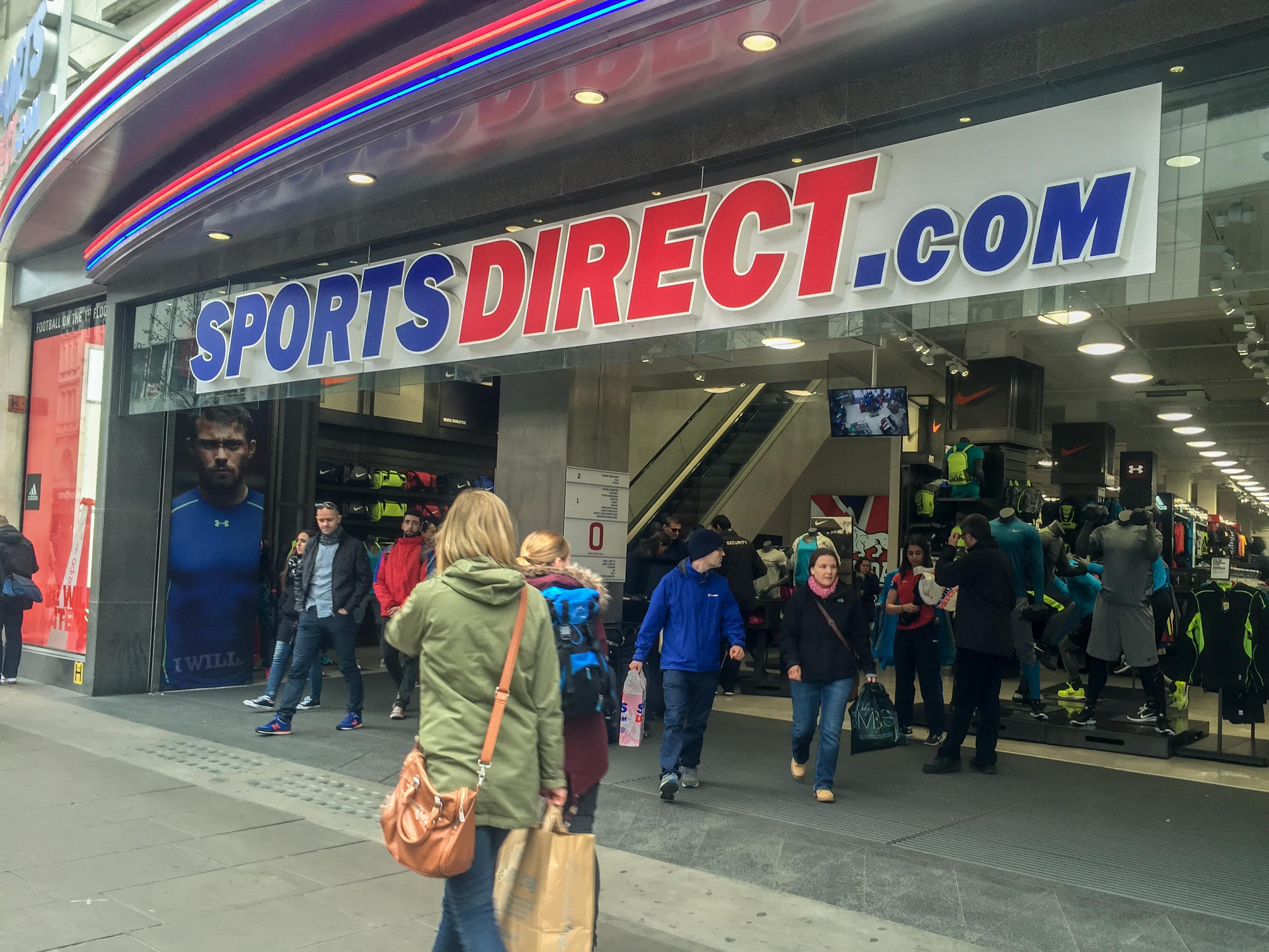 Sports Direct az edzőcuccok fellegvára