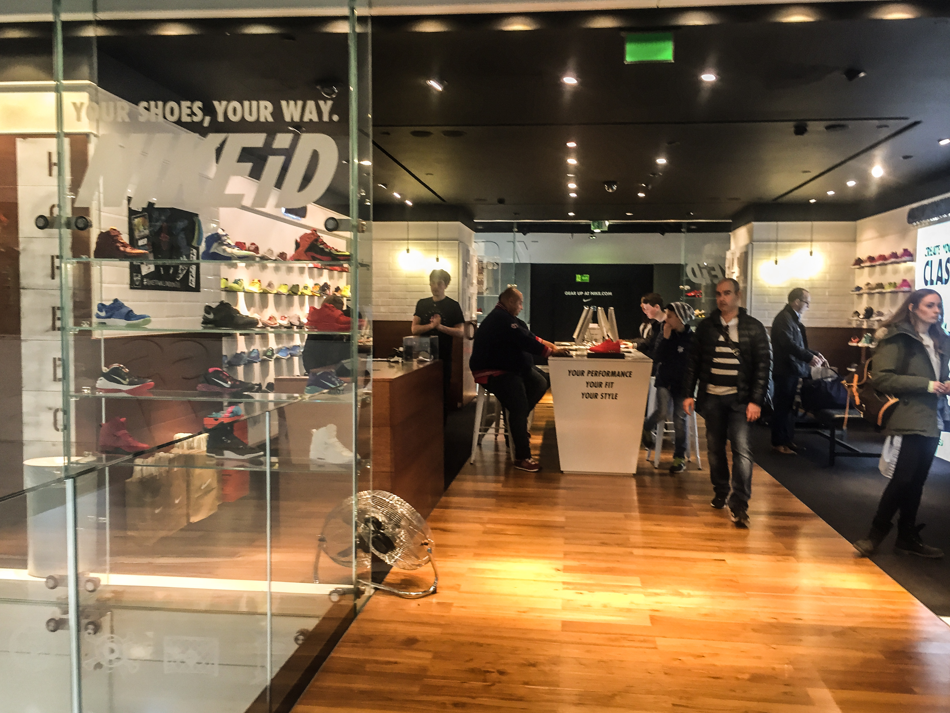 Nike iD fellegvára a Town harmadik emeletén.