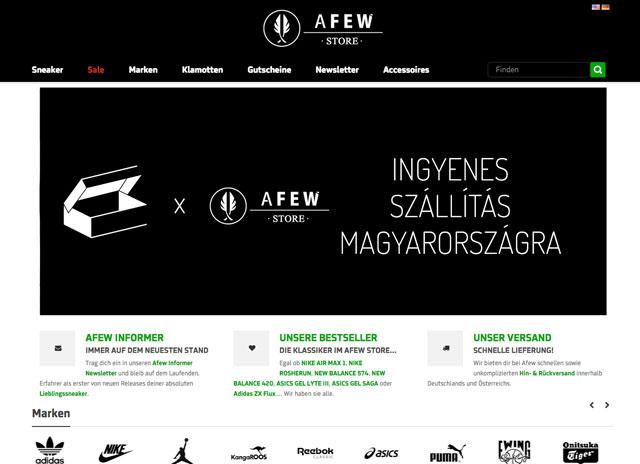 Afew x sneakerbox.hu: ingyenes szállitás kedvezménykóddal