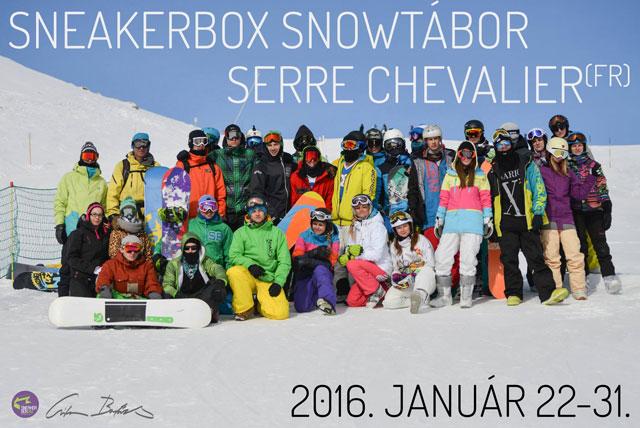 Sneakerbox Snowtábor 2016. január 22-31. Chantemerle (Serre Chevalier)