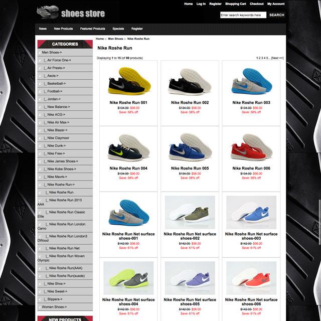 Példa egy távol-keleti, hamisítványokat árusító webshopra