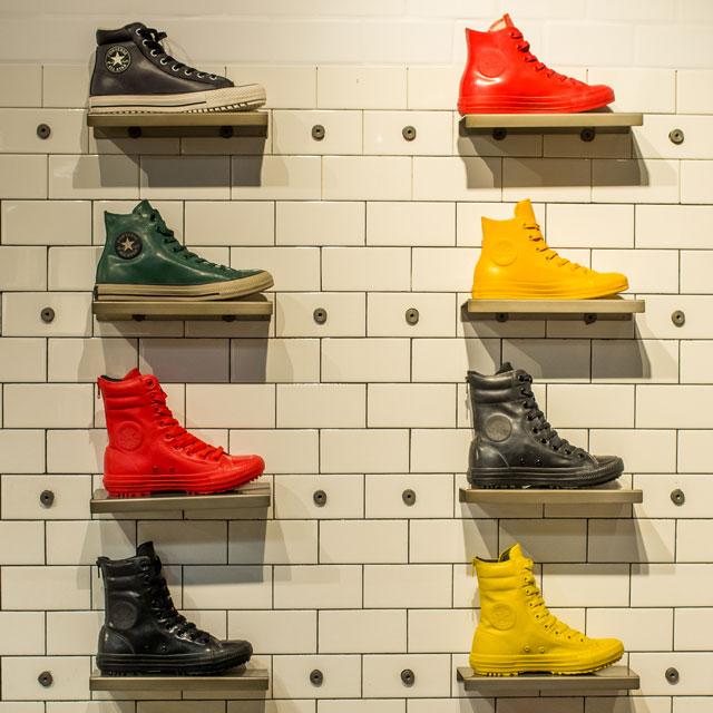 Színes és latyakálló: Converse cipők gumis felsőrésszel