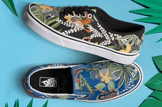 Disney x Vans Holiday Pack, a Dzsungel Könyve Classic Slip-On és Authentic modellek