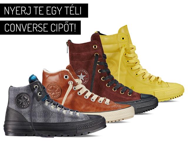 Nyerj te egy téli Converse cipőt!