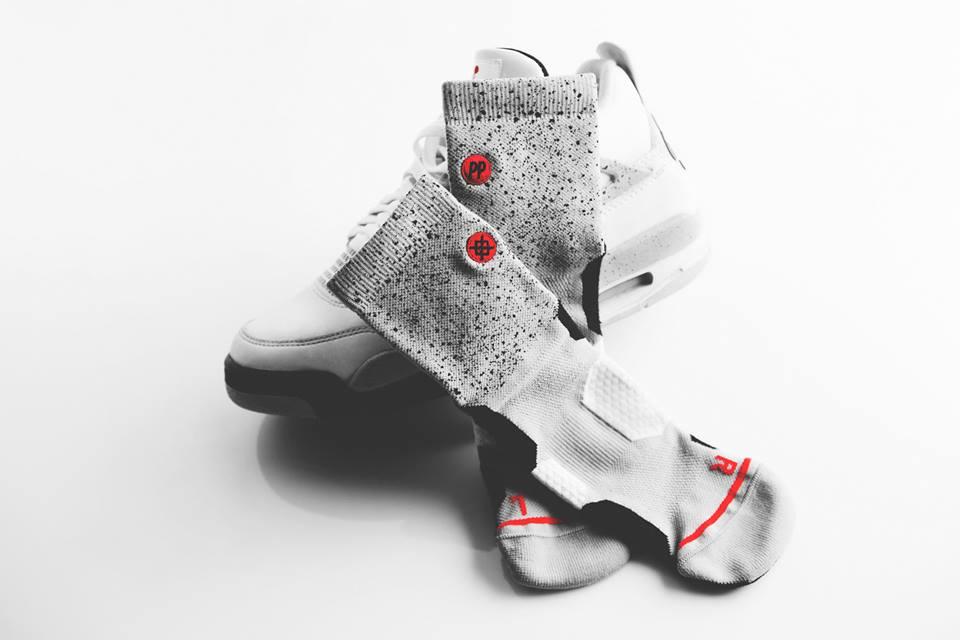 A friss Jordan 4 cement megjelenéshez is készült collab Stance model