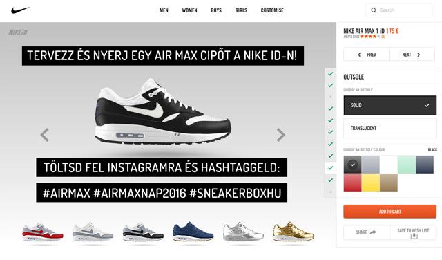 Tervezz és nyerj egy Air Max cipőt a Nike iD-ról! df521cf8a6