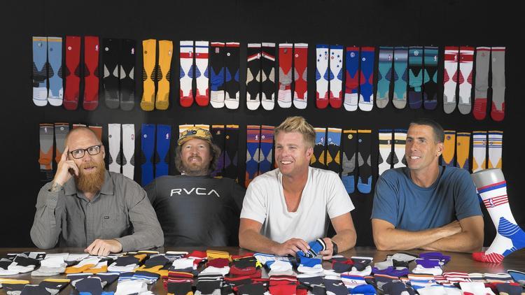 a legkomolyabb formák jöttek össze a Stance születésekor: Ryan Kingman, left, Jeff Kearl, Aaron Hennings és John Wilson alapítók