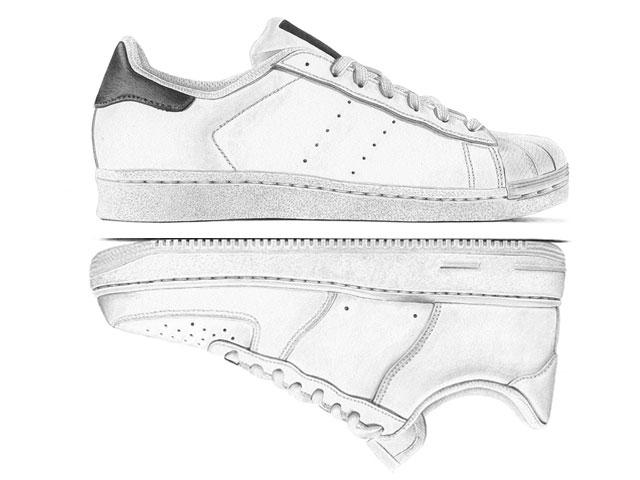 Márkás cipők márkátlanul // logótlanított sneaekerek (Steph Morris/Highsnobiety)