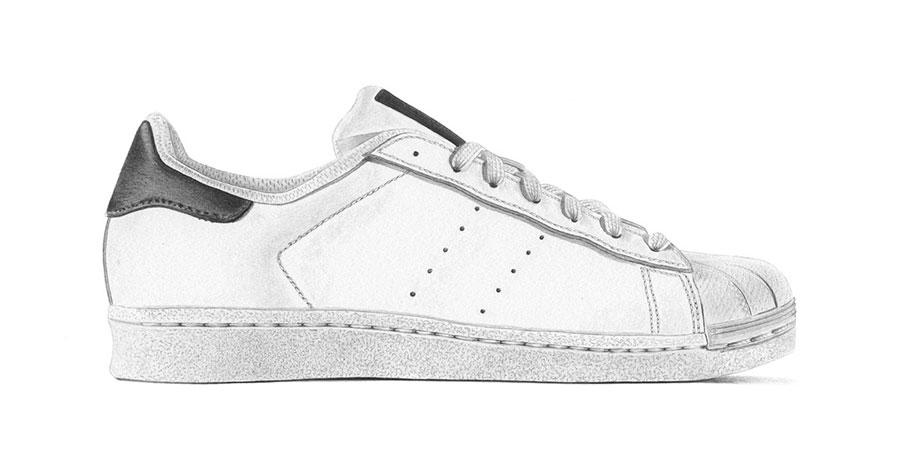 Márkátlanított cipők: adidas Superstar (Steph Morris/Highsnobiety)