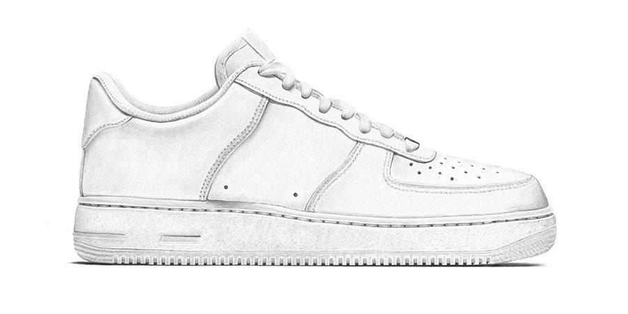 Márkátlanított cipők: Nike Air Force One (Steph Morris/Highsnobiety)