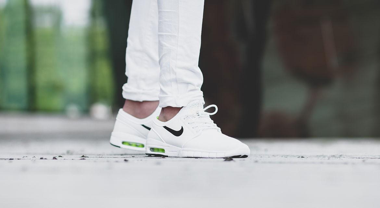 Nike Stefan Janoski Max (White/Black/Volt/White 631303-107)