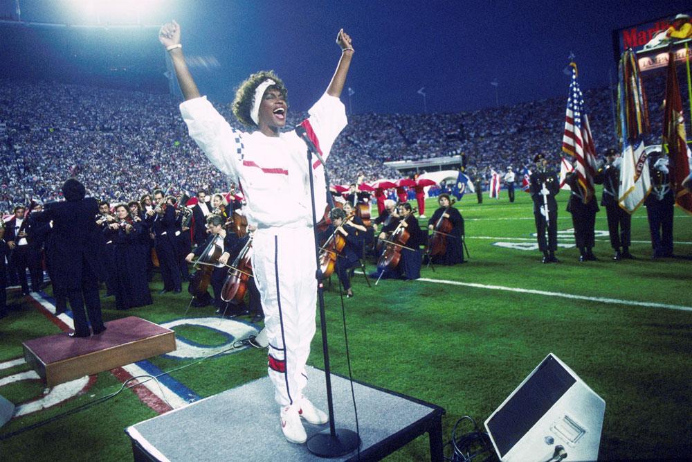 Whitney Houston a 25. Super Bowl-on