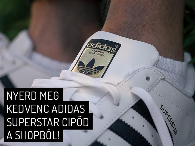 Nyerd meg kedvenc adidas Superstar cipőd a sneakerbox.hu shopból!