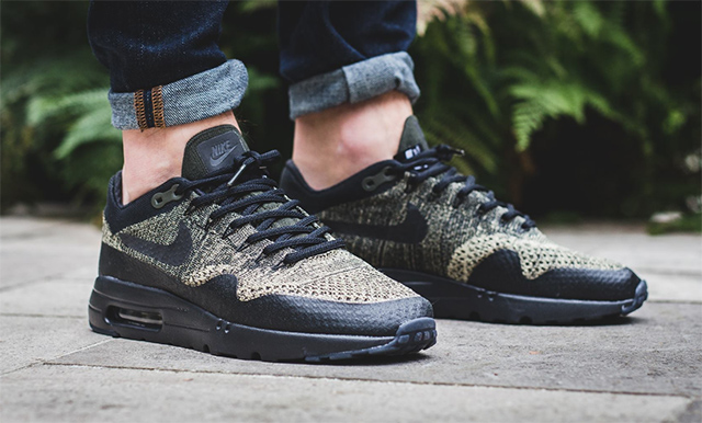 """Nike Air Max 1 Ultra Flyknit """"Neutral Olive/Black-Sequoia"""""""
