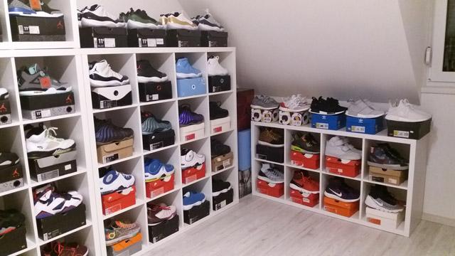 Posi sneaker kollekciója - példás a rend :)