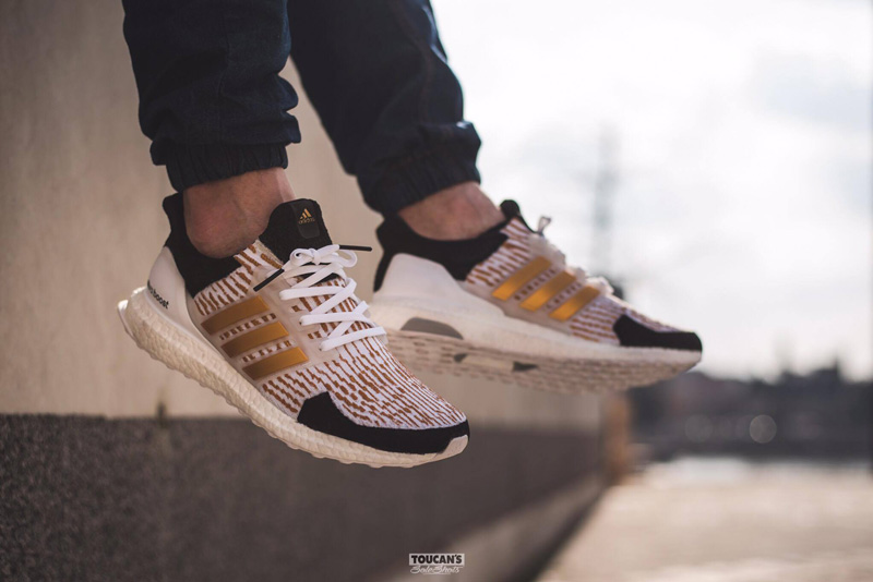 Dent Kicks Custom adidas Ultra Boost 'Gold Trophy'