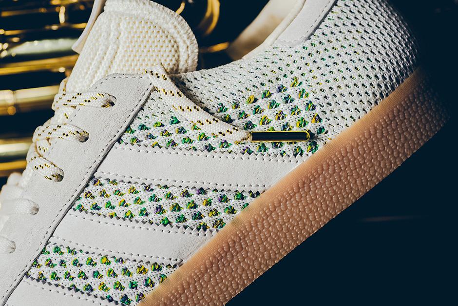 Sneaker Politics x Adidas Consortium Gazelle Primeknit 'Mardi Gras'